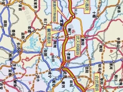 沿江高铁9大项目进度一览,包括成达万铁路、渝万高铁、宜昌至郑万高铁联络线。