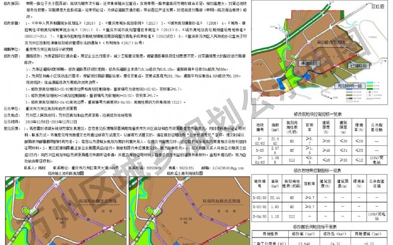 申明一路及周边地块局部修改方案的公示