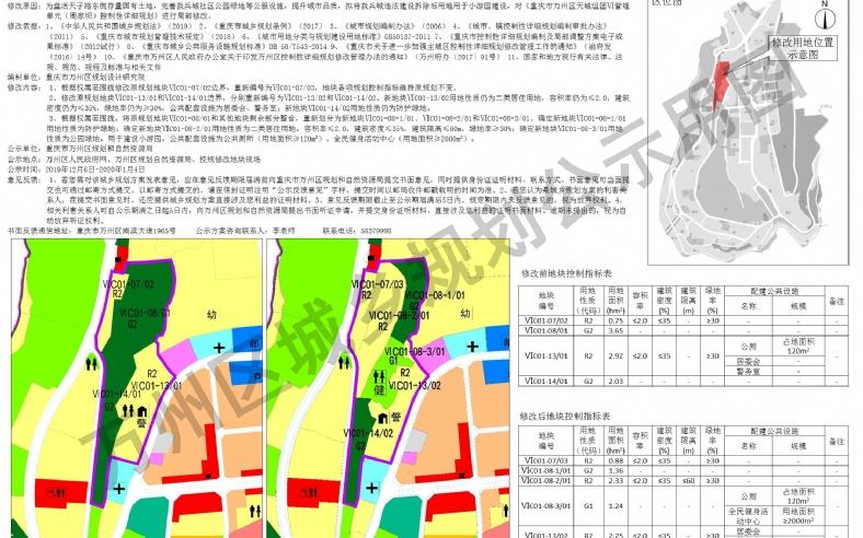 周家坝控规ⅥC01-07/02等地块局部修改方案的公示